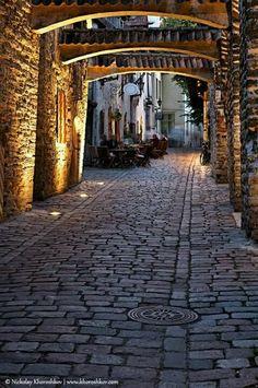 cobblestone streets of Tallin, Estonia
