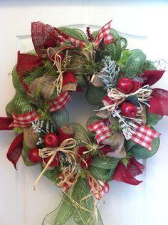 Apple harvest wreath themed fall autum teacher wreath by lawler01, $59.99