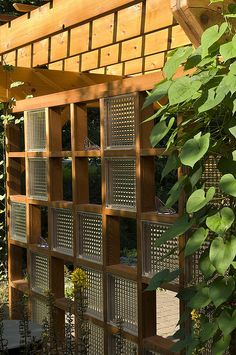 Custom Cedar Arbor with Glass Block Trellis | Flickr - Photo Sharing!