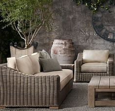 outdoor furniture by Restoration Hardware - love that its called Provence!