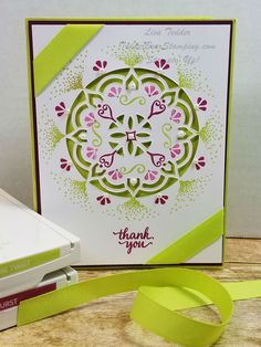Playing with Eastern Beauty/Eastern Medallion again! So MANY ways to use it!  Love that Stampin' Up! makes such versatile stamps!
