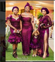 African Traditional Outfits Inspiration, Aso ebi ladies, Wedding Guests, Family Outfits, Part African Lace Dresses, Latest African Fashion Dresses, African Print Fashion, African Lace Styles, African Clothes, Ankara Fashion, African Prints, African Wedding Attire, African Attire