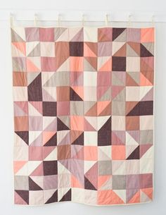 modular-block-quilt-orchid | Purl Soho | Could use similar plan for knitted blanket?