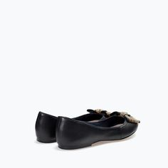 ZARA - WOMAN - LEATHER BALLET FLAT WITH BOW - 7 1/2