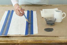 Paños de cocina pintados a mano...