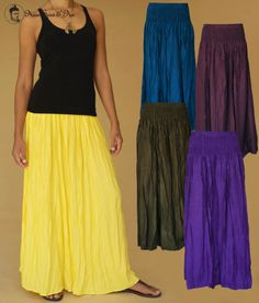 Sommer Maxi Rock Skirt Hippie Goa Boho Aladin Pluder Ethno Thailand SolidColors. Visit our shop at http://stores.ebay.com/Asian-Spirit-and-Art