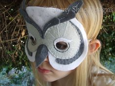 Snowy Owl Mask PATTERN. One size fits most. INSTANT by EbonyShae