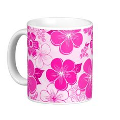 Abstract girly pink flowers