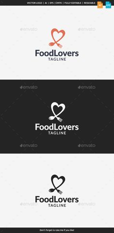 Food Lovers Logo — Vector EPS #chef #healthy • Available here → https://graphicriver.net/item/food-lovers-logo/11148005?ref=pxcr