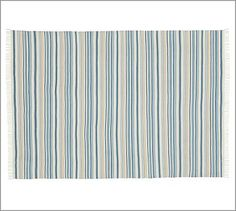 Darien Stripe Cotton Mat - Blue #potterybarn