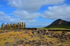 Pääsiäissaari, Easter Island, moai- All pages by Annu Easter Island, South America, Ticket, Monument Valley, Lily, Nature, Travel, Viajes, Lilies