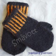 Tova vott i brun og oransje str 4-6 �r, Mittens, Gloves, Knitting, Fashion, Fingerless Mitts, Moda, Tricot, Fashion Styles, Breien