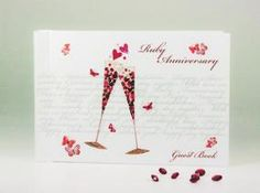 Ruby Anniversary Guest Book - Champagne By Hammond Gower