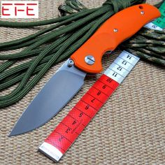 EFE F3 Tabargan Rat 1 Tactical Ball bearing Folding Knife D2 blade G10 Handle Tactical Survival Hunting EDC Knife camping tool
