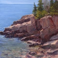 Acadia Coast by Kathleen Dunphy Oil ~ 12 x 12