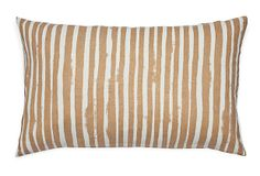 Painted Stripe 14x22 Pillow, Gold on OneKingsLane.com