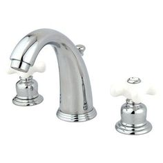 Kingston Brass KB98.PX Vintage Widespread Bathroom Faucet with Pop-Up Drain Asse Polished Chrome Faucet Lavatory Double Handle