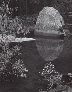 ANSEL ADAMS  1902 - 1984 Rock, Merced River, Autumn, Yosemite Valley, California Date:ca. 1962