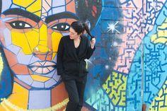 Comment porter des baskets running avec une tenue chic ? - latelierdal blog lifestyle mode Paris www.latelierdal.com Look blog Adidas Running Frida Kahlo Street art