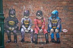 Street art waar je u tegen zegt