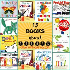 15 books to use when teaching your #preschool kiddos about colors | embarkonthejourney.com