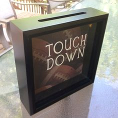 A place to keep all your ticket stubs from your favorite games this Fall. TOUCH DOWN Football Ticket Stub Box