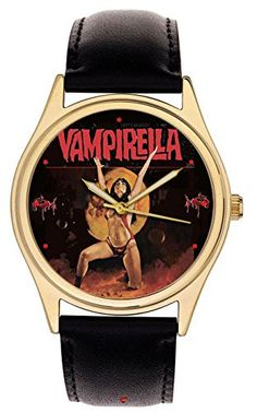 Vampirella - Rare Vintage 70s Comic Art Dial Collectible Erotic Vampire Art Jumbo 42 mm Men's Wrist Watch