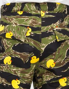 Woodland Tiger Stripe Rubber ducky