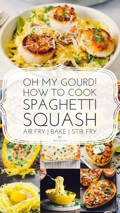 How to cook spaghetti squash - Sortathing Four Cheese Spaghetti Squash, Best Spaghetti Squash Recipes, Cooking Spaghetti Squash, Pasta Substitute, Pasta Recipes, Lasagne Recipes, Ww Recipes, Lunch Recipes, Dinner Recipes