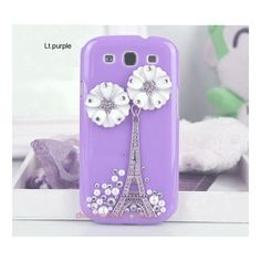 bling case for Samsung galaxy s3 bling case Eiffel Tower & flowers ($17) ❤ liked on Polyvore