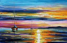 """Real Sunset"", by Leonid Afremov"