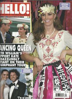 Hello magazine Kate Middleton Prince William Martine McCutcheon James Corden