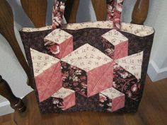 Found in ABC 3-D Tumbling Blocks...and  More!, page 66 - Rachel's Tote by Martha E.
