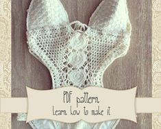 PATTERN for White Crochet Swimsuit by Crochetbikinisbyfabi