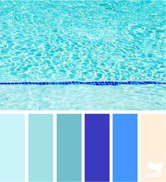 Aqua Tones via @designseeds  #seedscolor #color #colorpalette #color #palette #pallet #colour #colourpalette #design #seeds #designseeds #aqua #teal #turquoise #cobalt #blue #pool #summer