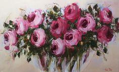 Nicole Pletts Pink Roses olaj, vászon 91x152cm ELADVA