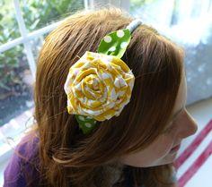 Fabric Flower Headbands ... lessthanperfectlifeofbliss