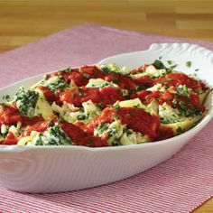 Spinach Ricotta Stuffed Shells...#dinner deliciousness!