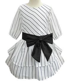 55dd31ada4df A.T.U.N. | Black Breton Stripe Kathy Dress - Infant, Toddler & Girls