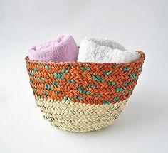 Pletený košík na uteráky, Palmový košík na ponošky Handmade Home, Laundry Basket, Handicraft, Egypt, Wicker, Retro, Fashion, Craft, Moda