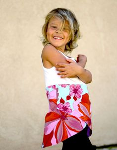 Easy wrap tunic or dress. Fun for any age! Great way to use a too-short tank top!