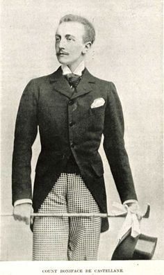 Paul Ernest Boniface de Castellane, the marquis de Castellane (1867–1932) French nobleman known as a leading Belle Epoque tastemaker & the first husband of American railroad heiress Anna Gould. Anna obtained a civil divorce in 1906, after Boniface had spent about $10 million of the money given to Anna by her father upon marriage. In 1908, Anna married his cousin, & Boniface then sought an annulment from the Vatican so that he could be free to remarry in the Church.