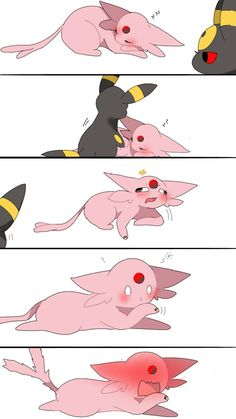 Umbreon And Espeon, Pokemon Eevee Evolutions, Eevee Cute, Cute Pikachu, Pokemon Comics, Pokemon Funny, Pokemon Images, Pokemon Pictures, Eevee Comic