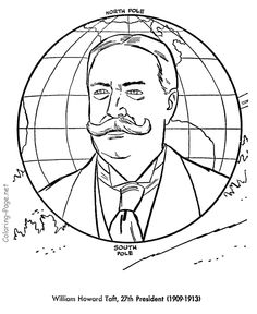 william taft us president coloring pages