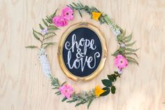 I love this little chalkboard scripture sign! Featuring the words hope & love from 1 Corinthians 13:13 hand lettered in real chalk and sealed