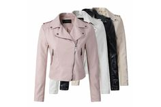 6d56b44d08596 Faux Leather Jacket for fall and winter fashion · Vêtements  FemmesVetementsVestes ...
