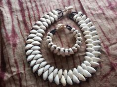 African Cowry Shell Beaded Choker Necklace and Bracelet Set | eBay