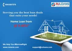 Turn your dreams to reality! Get #HomeLoan starting from now @ 9.40%*  For more details visit - http://buff.ly/29OUlLi #Ruloans #BorrowRight