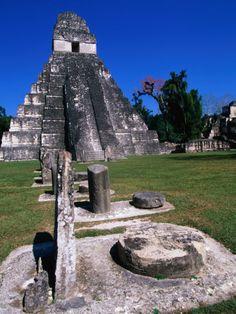 Tikal.  Mayan ruins in Guatemala.