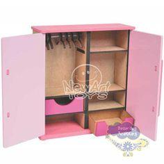 Armário Casal Linha Moderna, Armário Casal Linha Moderna newart, brinquedos newart , móveis para casinha, móveis de madeira para casinha de bonecas,